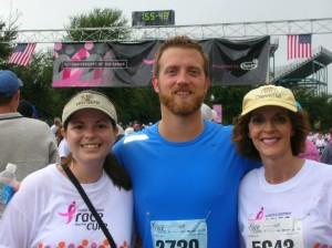 Go Team DH!  Rikki, Craig & Leslie at the finish line.