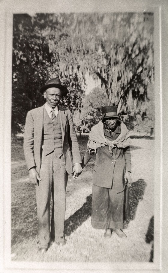 A historic image on loan to Drayton Hall with previosuly unidentified subjects. Emmie Lee Jenkins was able to identify the two people as Charles Bowens and his older sister Mary Bowens Fenneck, the two oldest children of Caesar and Ella Camel Bowens.