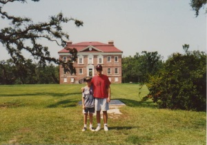 Beatty family visit to Drayton Hall in 1990.