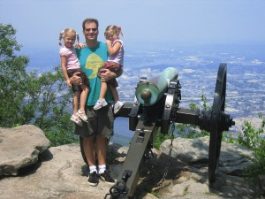 The Beatty Family at Lookout Mountain National Park in 2007.