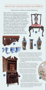 Drayton Hall Objects at Colonial Williamsburg Exhibit