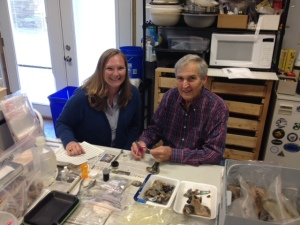 Me with volunteer Stan Younce who is learning to label.