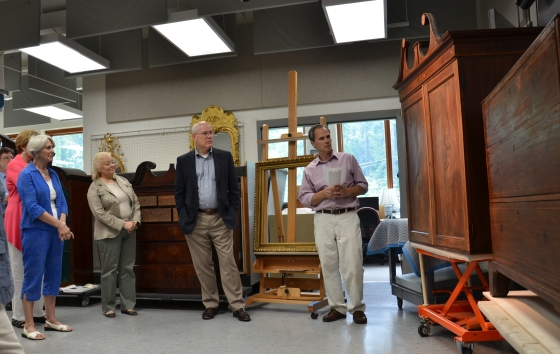 Curators describe the process involved in the conservation of the Drayton family clothespress.