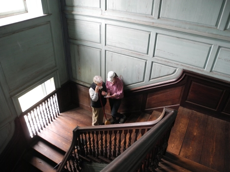 Tara, Betsy in the stair hall