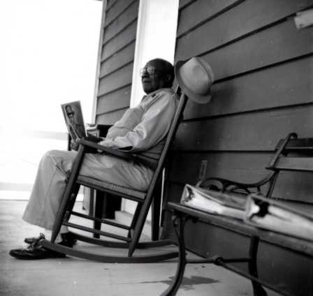 Richmond Bowens, born at Drayton Hall in 1908, sat in his rocking chair on the Museum Shop's porch during the 1990s where he would recall his 23 years of life growing up on the property between 1908 and 1931 when Drayton Hall was still privately owned.  The rocking chair is part of Drayton Hall's collection.