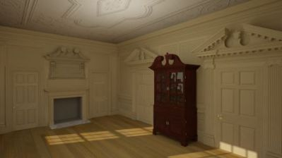 Trish Smith's latest work includes a 3D rendering of Drayton Hall's Withdrawing Room