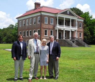 From left to right: Site Advisory Council member Kristopher King, President of the American Alliance of Museums Dr. Ford W. Bell with his wife, Amy, and Drayton Hall Executive Director Dr. George W. McDaniel.