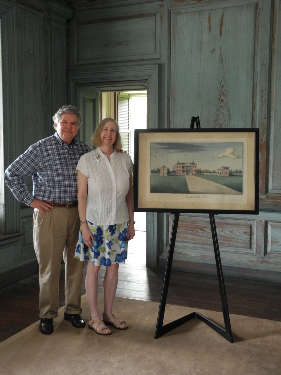 Executive Director George W. McDaniel with Winchester, VA archivist Becky Ebert.