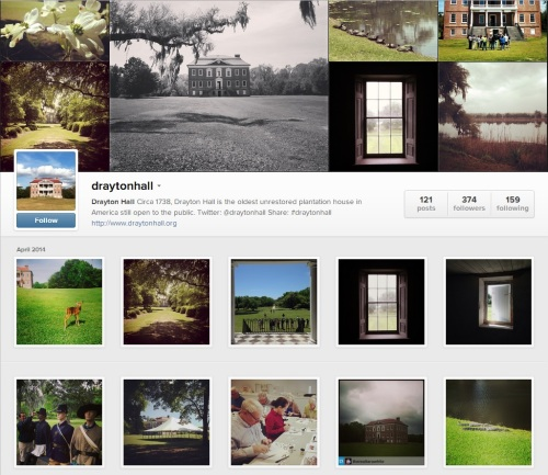 drayton hall instagram screenshot