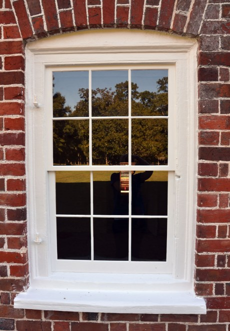 New Window Sashes in the Basement of Drayton Hall