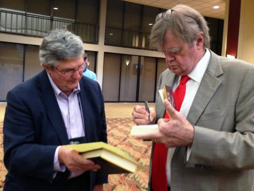 Executive Director George W. McDaniel with keynote speaker Garrison Keillor.