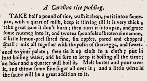 Carolina Rice Pudding