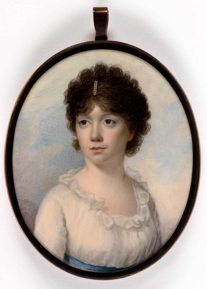 Mrs. Joseph Manigault (Charlotte Drayton) by Edward Greene Malbone, c. 1801. Image courtesy of the Smithsonian American Art Museum. Gift of Pearl G. Manigault.