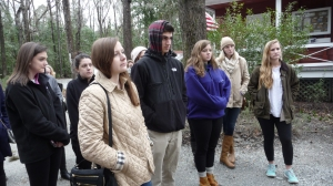 Students listening to Drayton Hall