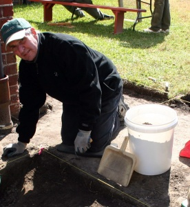 Stan Younce, archaeology volunteer