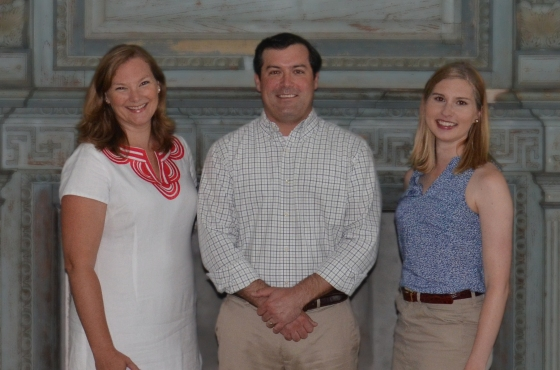 L-R: Sarah Stroud Clarke, Carter C. Hudgins, Trish Smith